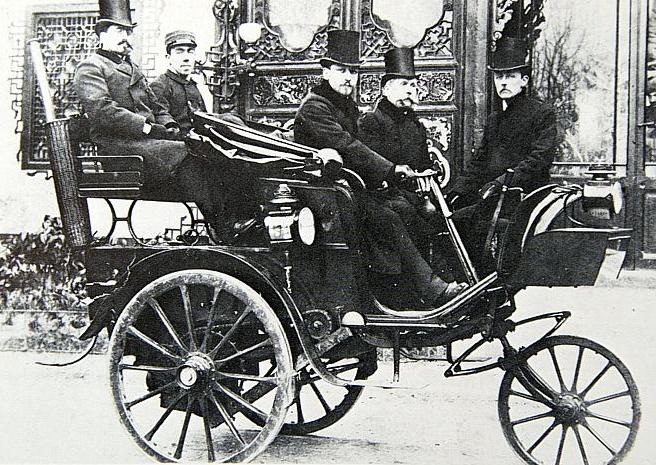Peugeot pirmas triratis, garais varomas automobilis 1889